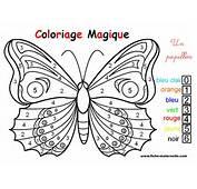 Coloriage Magique  Un Joli Papillon
