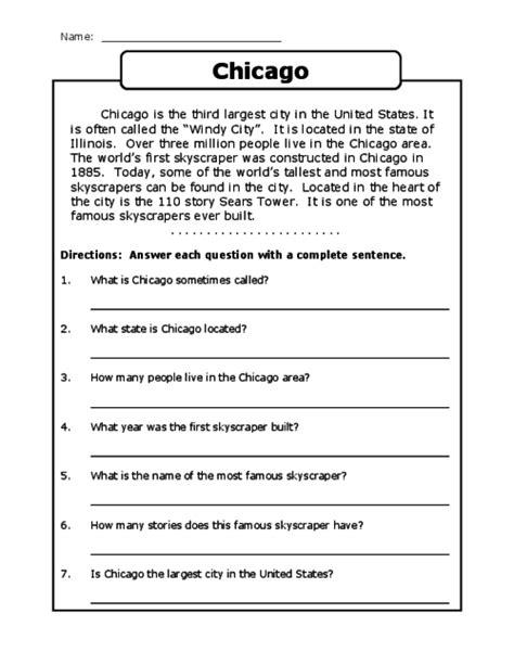 printable reading comprehension test for grade 3 comprehension exercises for grade 3 descargardropbox