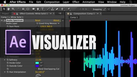 How To Create Music Visualizers After Effects Tutorial Adobe After Effects Visualizer Template