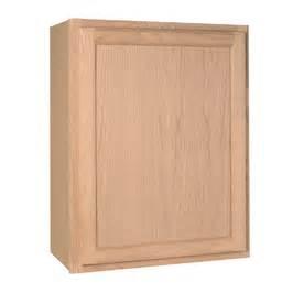In h x 12 in d unfinished brown oak single door kitchen wall cabinet