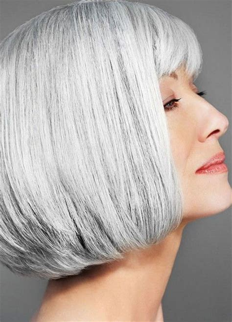 bobs with bangs grey hair 35 short hair for older women short hairstyles 2017