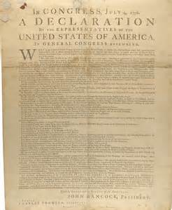 The dunlap broadside of the declaration of independencethis is one of
