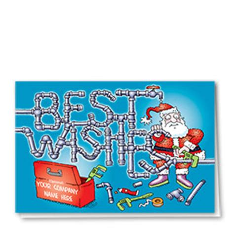 Cimarelli S Plumbing Santa by Plumbing Cards Construction Greeting