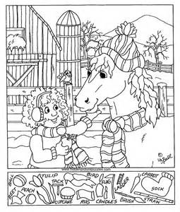 Hidden pictures page print your hidden pictures feeding horse page