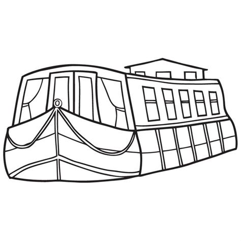 canal boat clipart drawn boat looks 3d pencil and in color drawn boat looks 3d