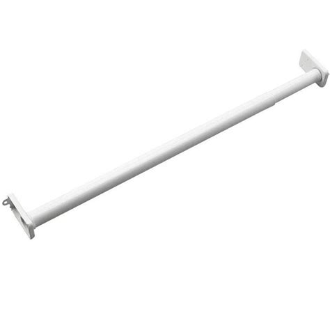 Closet Rod Hardware by Richelieu Hardware Adjustable Closet Rod With Fixed Ends