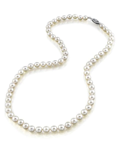 5 0 5 5mm japanese akoya white pearl necklace aaa quality