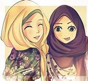 hijab kartun muslimah lucu