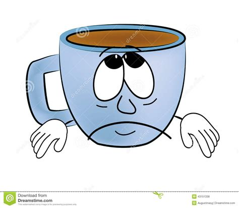 Sad Cup Of Coffee Cartoon Stock Illustration   Image: 43151338