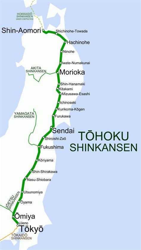 shinkansen map file tohoku shinkansen map png wikimedia commons