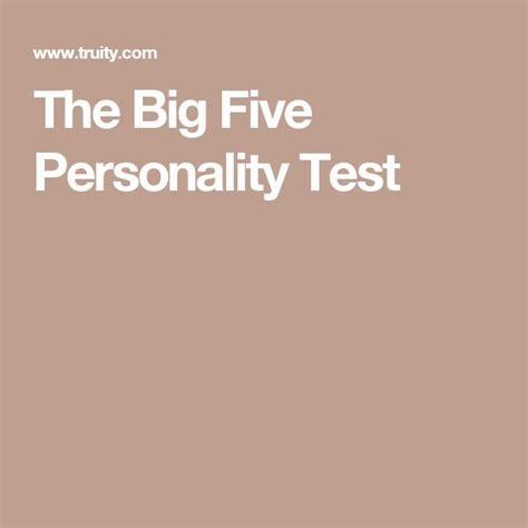 the best personality test best 25 big five personality test ideas on