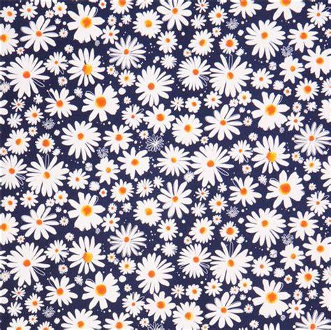 Wallpaper Black Flower 5m blue flower fabric robert kaufman petal