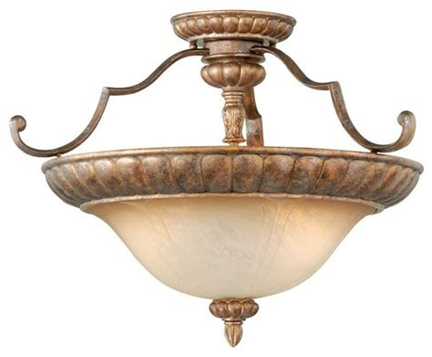 Traditional Semi Flush Ceiling Lights Vaxcel Lighting Kb Cfu200tz Kimball Traditional Semi Flush Mount Ceiling Light Traditional
