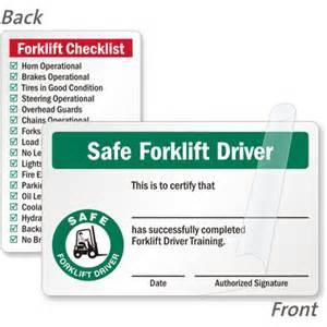 forklift licence template forklift certification cards forklift driver wallet cards