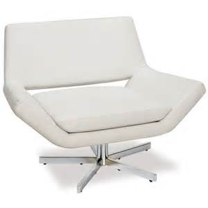 leather swivel chair in white yld5141 w32