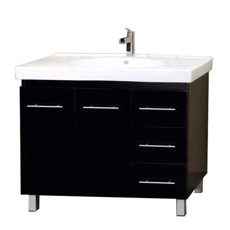 Single Vanity Top by Bellaterra Home Midlands R 39 In Single Vanity In Black With Porcelain Vanity Top In White