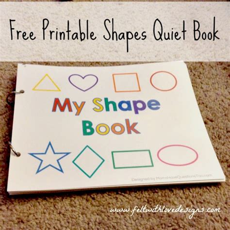 no sew book templates projects free printable no sew shapes