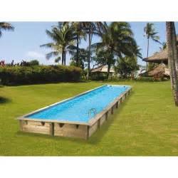 piscine rectangulaire bois piscine hors sol bois rectangulaire 350x1550cm linea liner
