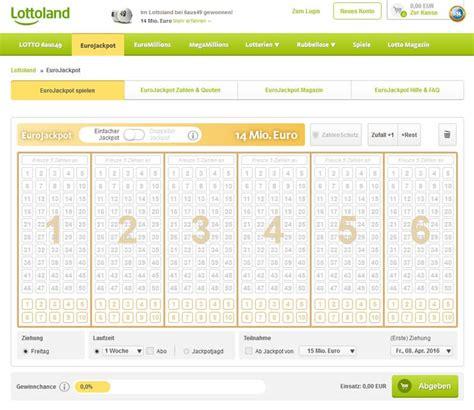 wann wird eurojackpot gezogen eurojackpot bei lottoland spielen erkl 228 rungen und