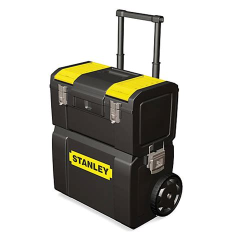 tool box on wheels uk stanley 1 70 327 2 in 1 mobile work centre toolbox