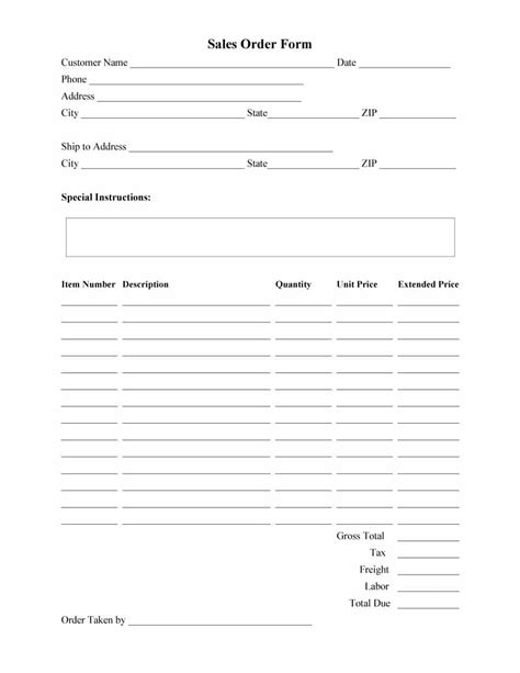 food template invoice example food restaurant order form template