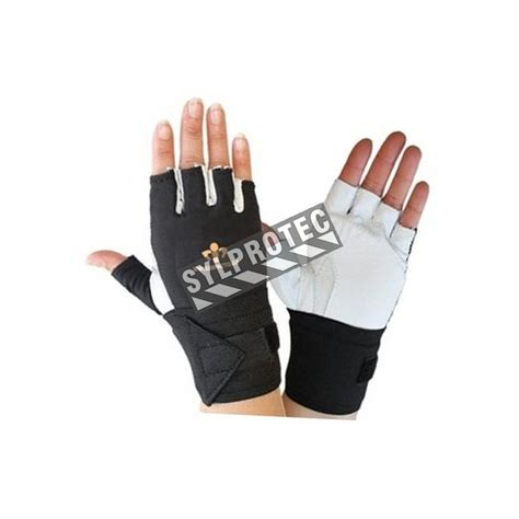 Gloves O Halffinger cowhide anti impact impacto airgloves half finger gloves