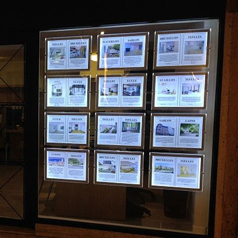 hanging light box display led sign display real estate agent light box hanging