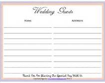 free printable wedding guest sign in pages