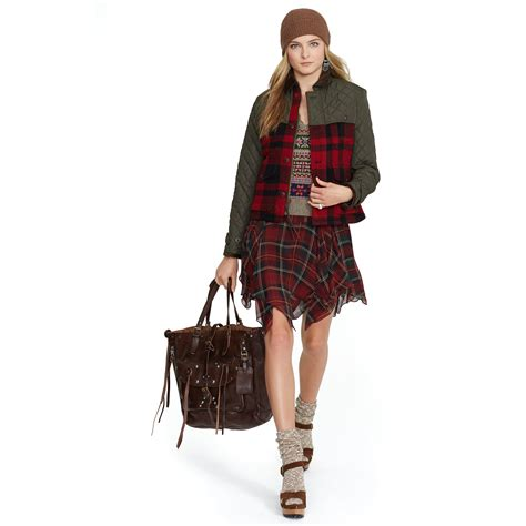 Ragheeda Tartan Sleeveless Mini Dress polo ralph silk tartan sleeveless dress lyst