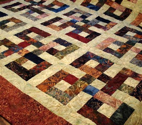 Knot Quilt Pattern by Waste Knot Batik Quilt