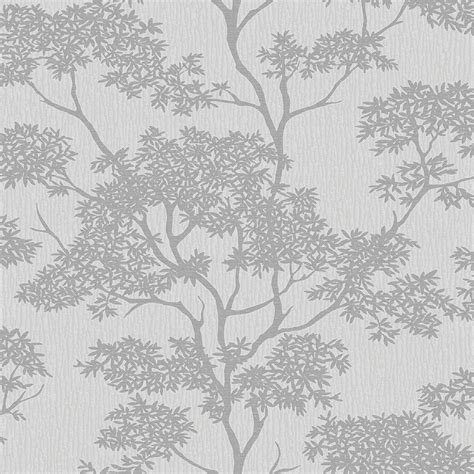 wallpaper grey trees glamour tree wallpaper grey silver ilw980065 from
