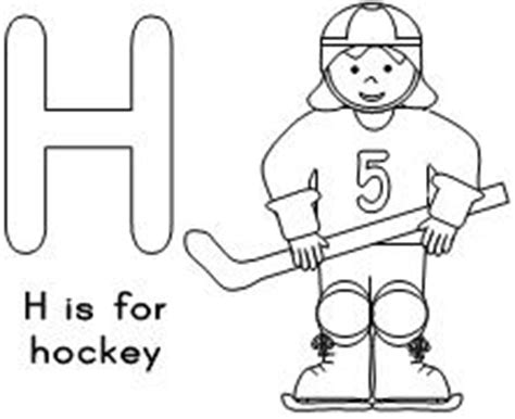preschool hockey coloring pages fun learning printables for kids
