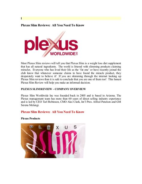William And Mba Review by Plexus Slim Review