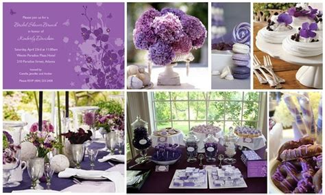 Purple Bridal Shower Decorations by Purple Theme Bridal Shower The Future