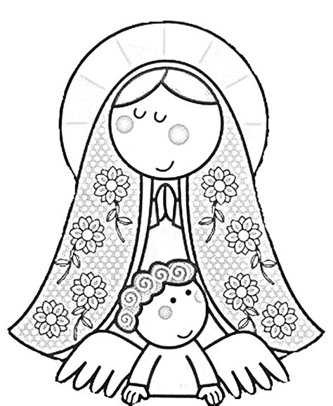 free coloring pages of our lady of guadalupe coloring book