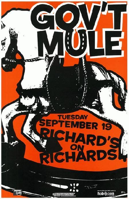 1d Poster 6 original concert poster for gov t mule at richard s on