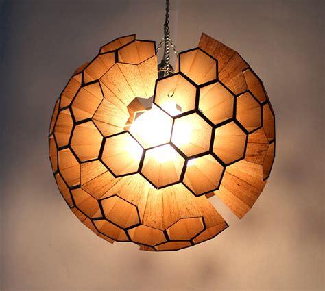 lamp sphere  hexagonal cells  behance