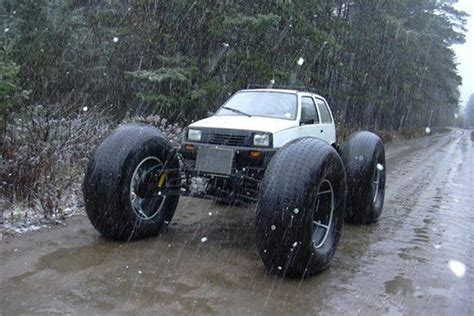 lifted mercedes sedan 11 normal cars with ridiculously massive wheels 10