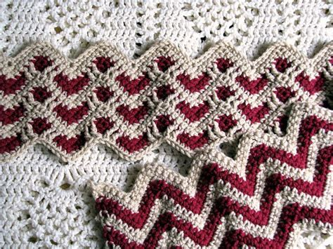 zig zag heart quilt pattern free crochet sweetheart ripple afghan 013 video tutorial 765
