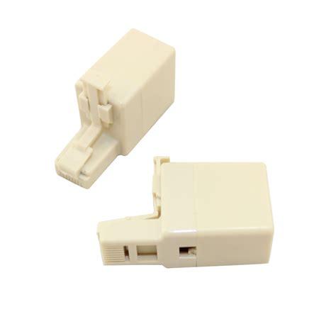 converter rj45 to rj11 adapter rj45 plug rj11 jack 2 pieces