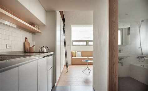 vertical tiny  sqm apartment maximizes space  style