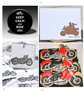 Biker Wedding Favors motorcycle wedding favors and reception ideas