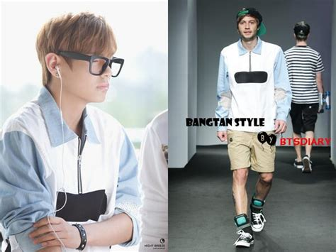 Tshirt Bts J Stripe Sleeve bangtan style bts airport fashion at gimpo airport