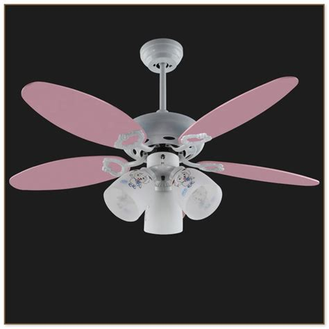 pink ceiling fan with light