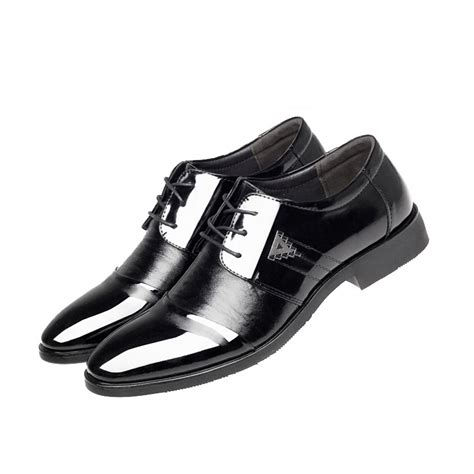 mens business dress formal leather shoes flat oxfords