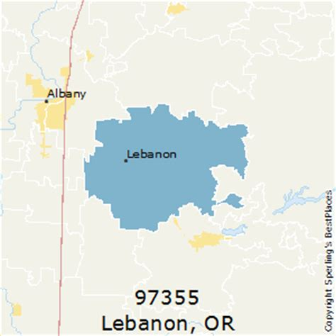 map of oregon lebanon best places to live in lebanon zip 97355 oregon