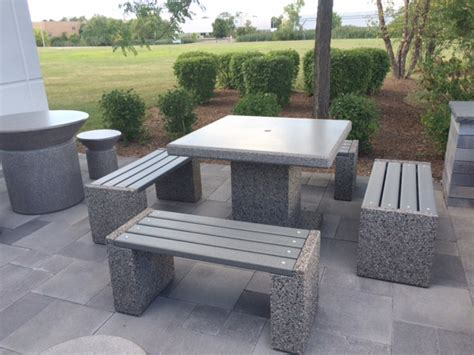 Cement Patio Tables Concrete Table Sets For Outdoor Patio At Aircraft Propeller Services Doty Concrete