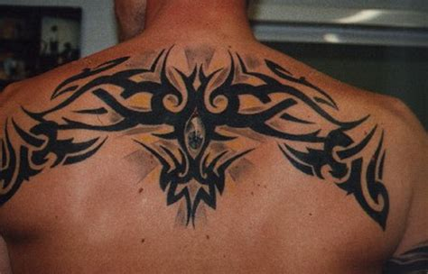 upper back tribal tattoos for men back for