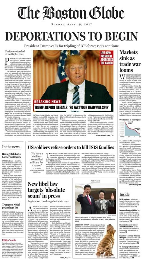 boston globe travel section boston globe trump front page the gop must stop trump