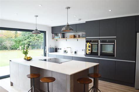 modern kitchen installation  london dark grey matt